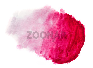 Red watercolor paint on white canvas. Super high resolution and quality.