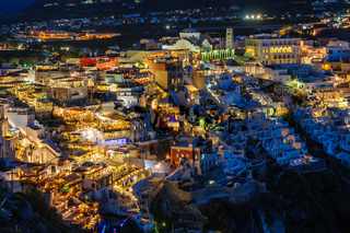 Fira luxury decks and patios at night