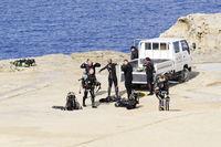 Taucher auf Gozo