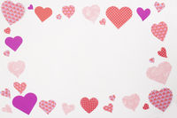 Valentines hearts frame