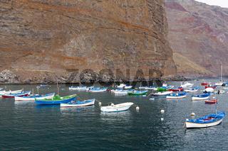 Fischerboote auf La Gomera, Spanien