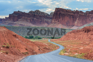 Scenic drive at Capitol Reef National Park Utah USA