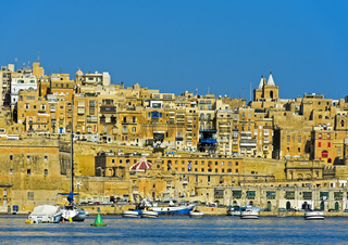 Kulisse der Altstadt von Valletta, Malta