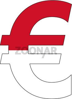 euro with flag of monaco