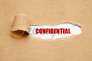 Confidential Torn Paper Concept