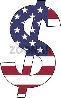 dollar - flag of usa