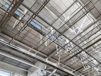 ceiling of modern storehouse