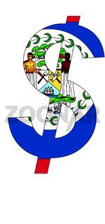 dollar - flag of belize