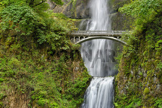 Benson Bridge over Multnomah Falls, Columbia River Gorge National Scenic Area, Oregon