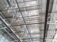 large steel industrial roof