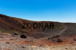Aetna Lavafeld Krater sylvestre