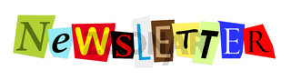 newsletter in colorful cut out letters