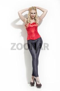 Blonder Engel in Fashion