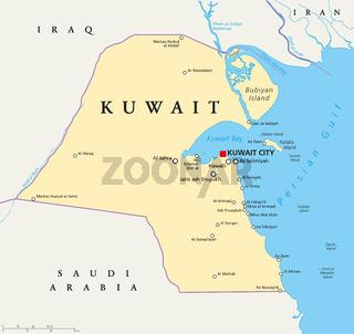 Kuwait Landkarte
