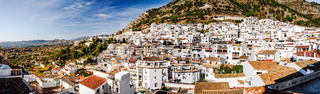 Panorama of white village of Mijas