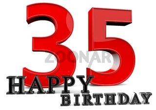 Happy Birthday zum 35. Geburtstag