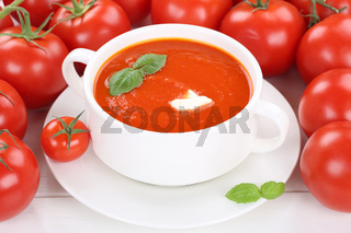 Tomatensuppe Tomaten Suppe in Suppentasse