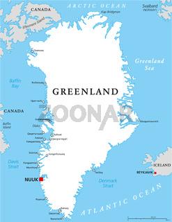 Grönland Landkarte