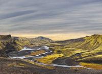 Surreal landscape of Landmannalaugar - Iceland