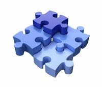 Jigsaw Puzzle Pieces Blue