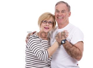 casual caucasian couple