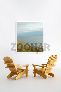 Miniature adirondack chairs