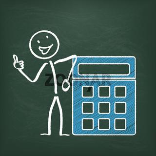 Blackboard Stickman Calculator