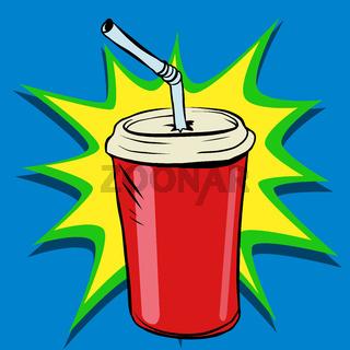 Cola beaker tube fast food drink