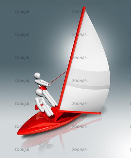 Sailing 3D symbol, Olympic sports