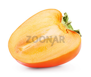 Ripe persimmon isolated
