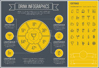Drink Line Design Infographic Template