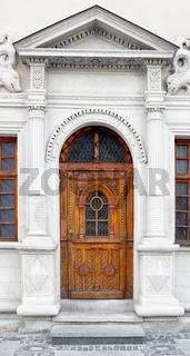 Medieval style wooden door