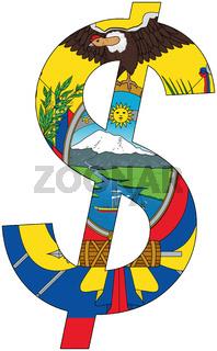 dollar - flag of ecuador