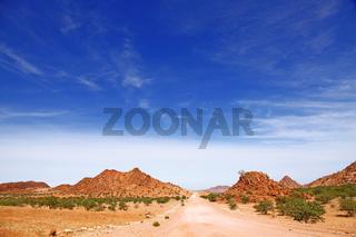 Landschaft im Damaraland, Namibia; landscape at Damaraland, Namibia