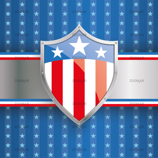 US Flag Protection Shield Banner Stripes