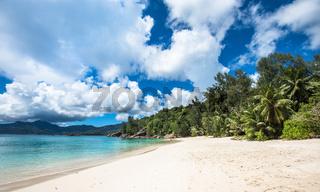 Anse Soleil tropical beach, Mahe island, Seychelles
