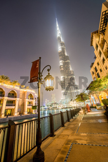 Dubai - JANUARY 9, 2015: Burj Khalifa building on January 9 in U