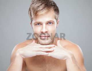 Beauty portrait of an young handsome man