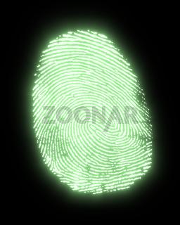 glowing fingerprint