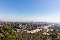 Hollywood freeway in Los Angeles, California