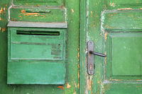 Part of Green Shabby Door