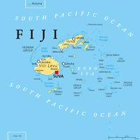Fidschi Landkarte