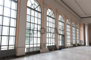 Modern interior represented with French windows