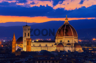 Florenz Dom Nacht - Florence cathedral night 02