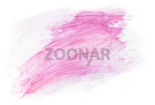 Pink watercolor paint on white canvas. Super high resolution and quality.