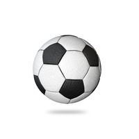 Classic Laether Soccer Ball Isolated on White Background.