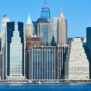 Lower Manhattan skyline view from Brooklyn