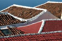 Dächer auf der kanarischen Insel Teneriffa, Detail