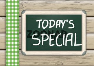 Today's Special Blackboard Wood