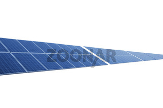 isolated blue solar panel against white